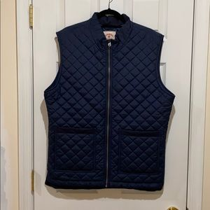 XL Brooks Brothers Navy Quilted Vest
